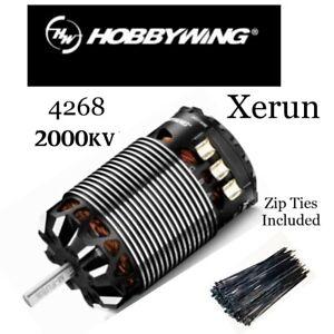 Hobbywing Xerun Generation 3 4268 2000kv Sensored Motor With 100 Black Zip Ties