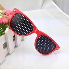 Red Frame Vision Care Improver Pinhole Glasses Anti-fatigue Stenopeic Glasses