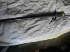 french model 1874 gras bayonet w scabbard brass and wood handle,bayonette