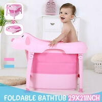 Folding Baby Bathtub Piggy Bath Tub Non Slip For 0 months - 10 years old 74X54CM
