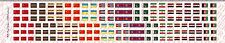 1/18 Scale Custom Waterslide Decals: National Flag Russia China Cuba Iraq etc