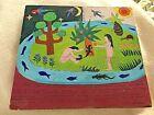 ADAM AND EVE,  Retablo, folk art, Garden of Eden, Bible Stories, Religious art