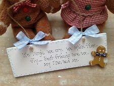 Personalized Nan Best Friend Birthday Gift Plaque Sign Wooden Gingerbread Man