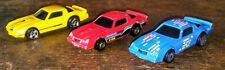 3 CAMARO Z28 HOT WHEELS BLUE QUICK FIRE PLAYSET CAR RED W/ GOLD HO RIMS & YELLOW