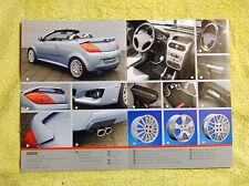 Vauxhall Tigra B Irmscher Brochure 2006 Models, alloys, bodykits