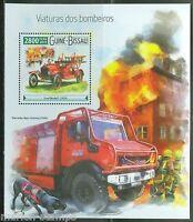 GUINEA BISSAU 2015 FIRE ENGINES FIRE TRUCKS SOUVENIR SHEET