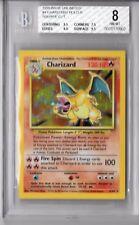 BGS 8 w/9.5 CHARIZARD SQUARE CUT 1999 Pokemon Base #4/102 Holo Non-PSA NM-Mint