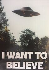 NEW MAXI POSTER THE X FILES I WANT TO BELIEVE UFO ALIEN (.)