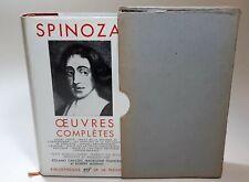 Spinoza Oeuvres Completes Bibliotheque de la Pleiade 1954