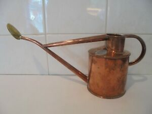 VINTAGE GENUINE HAWS COPPER INDOOR WATERING CAN AND ORIGINAL HAWS ROSE