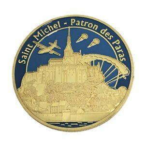 Coin pièce médaille souvenirs Saint Michel le saint Patron des Parachutistes