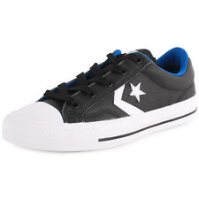Converse Cons Star Player Unisex Trainers Leather Black White New Shoes 7 UK