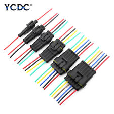 1-6 Pin Car Auto Waterproof Electrical Plug Connector 18 AWG With Wire 2.4mm EB