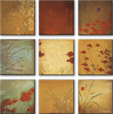 "9 SEPARATE 12""x12"" POPPY NINE PATCH by DON LI-LEGER-CANVAS"