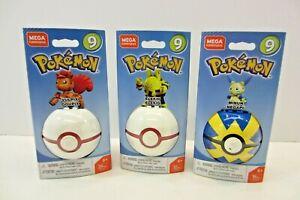 Pokemon Mega Construx Vulpix Poke Ball Series 9 Lot of 3