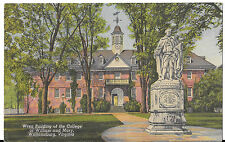 Postmarked 1952 Wren Building Of The College Of William & Mary Postcard Va
