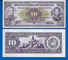 Venezuela P-62 10 Bolivares Year 3.11.1988 Uncirculated Banknote