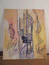 Art Contemporain Cubisme DGL STAEL ZELTER Fauve Gouache sur carton Signée 3