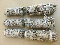 "White Sage Smudge Stick | 4"" to 5"" Wands House Cleansing Negativity  (LOT OF 6)"