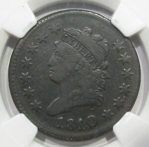 1810/09 Classic Head Large Cent NGC VF25 S-281