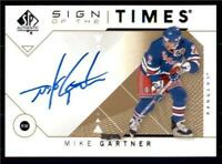 2019-20 UD SP Authentic 2018-19 Update Sign of the Times Auto Mike Gartner
