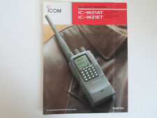 Icom-W21AT/W21ET (sólo Folleto Original)... radio _ trader _ Irlanda.