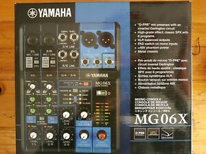 Yamaha MG06X  - 6 Kanal Studio Mischpult Mixer PA Bühne - NEU