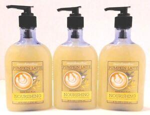3 BATH & BODY WORKS MARSHMALLOW PUMPKIN LATTE  NOURISHING HAND SOAP 8oz /236ml