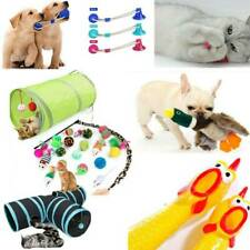 Pet Dogs Cat Chewing Squeaking Toys Kitty Puppy Tunnel Stick Mouse Ball Toys Kit