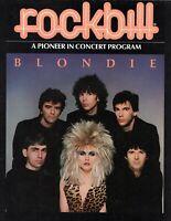 BLONDIE 1982 HUNTER ROCKBILL CONCERT POSTER PROGRAM BOOK BOOKLET-DEBBIE HARRY