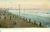 Atlantic City New Jersey~Chair Parade on Boardwalk~Victorian Couples~1908 TUCK