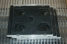 THREE (3) High Quality 10.4mm DOUBLE CD Jewel Cases w Black Tray Holds 2 CDs NEW