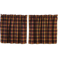 "Heritage Farms Primitive Check Tier Set by VHC Brands - Lined - 24"" x 36"""