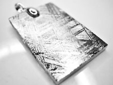 SOLID 32.2 X 21MM 14.3g TAG GIBEON METEORITE 925 STERLING SILVER PENDANT