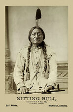 SITTING BULL Old West  Legend Vintage Photograph A++ Reprint Cabinet Card