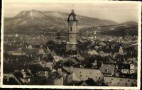 Jena Stadtkirche Hintergrund Jenzig Echt Fotografie Ansichtskarte Postkarte AK
