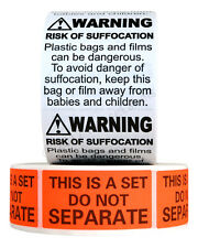 FBA Combo Pack (1x Suffocation Warning Labels And 1x Do Not Separate Labels)