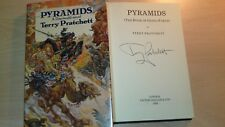 Terry Pratchett SIGNED Pyramids Discworld 1st edition Hardback OLD SIGNATURE