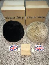 Vogue Shop Vintage Hats Lot of 2 Black Blonde Made in England Womens Size 22.5