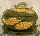 Vintage+Handmade+Ceramic+Soup+Tureen+Set+-+Corn+Theme+-+Bowl%2C+Lid%2C+Tray%2C+Ladle