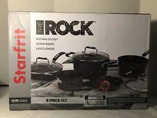 Starfrit The Rock 8-Piece Cookware Set with Bakelite Handles - Black