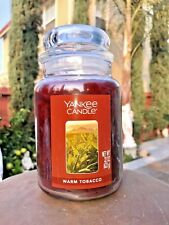☆☆WARM TOBACCO☆☆ LARGE YANKEE CANDLE JAR☆FREE PRIORITY MAIL SHIPPING GREAT SCENT