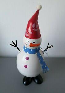 Christmas Metal Wobbly Snowman Decoration Ornament Home Novelty Xmas Figure