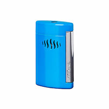 S.T.  DUPONT ACCENDINO LIGHTER NEW MINIJET JETFLAME BLUE TORCH BLU BLUE 010508