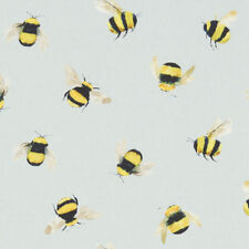 Pop Art Linen Look Digital Bombini Bumble Bee//Flower on Natural Fabric by 1//2M*