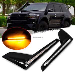 Grille Water Flowing Turn Signal Flash Light For Land Cruiser LC200 2016-20 LED