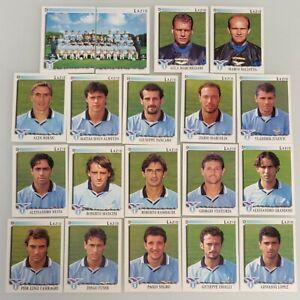 Set 19 figurine sticker squadra team LAZIO Calciatori panini 1997/98 - NEW