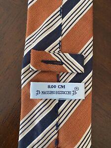 Massimo Bizzocchi Brown/Blue Multicolored tie