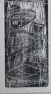 "Signed Hugh Mesibov 1948 Original Print  ""Mother & Child"" Aspen GlazRosenstock"