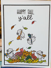 Stampin Up Card Kit Fall Autumn  mice leaves Copics